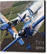 Airplanes Perform At The Sound Of Speed Canvas Print by Stocktrek Images