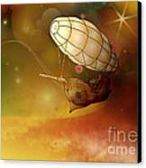 Airship Ethereal Journey Canvas Print by Bedros Awak