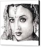 Aishwarya Rai Canvas Print by Rosalinda Markle