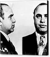 Al Capone Mug Shot Canvas Print by Edward Fielding