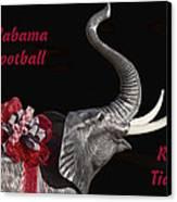 Alabama Football Roll Tide Canvas Print by Kathy Clark