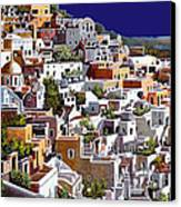 alba a Santorini Canvas Print by Guido Borelli