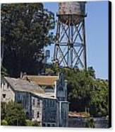 Alcatraz Water Tower Canvas Print by John McGraw