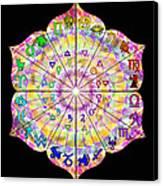 Alchemical Lotus Zodiac Canvas Print by Derek Gedney