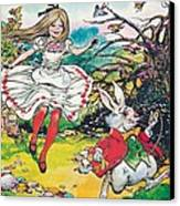 Alice In Wonderland Canvas Print by Jesus Blasco