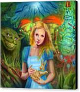 Alice  Canvas Print by Luis  Navarro