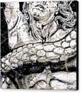 Alkyoneus - Detail No. 1 Canvas Print by Steve Bogdanoff