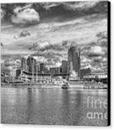 All American City 2 Bw Canvas Print