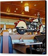 All American Diner 4 Canvas Print by Bob Christopher
