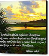 All One In Christ Jesus Canvas Print by Sheri McLeroy