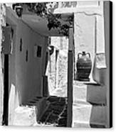 Alley In Kastro Village Canvas Print by George Atsametakis