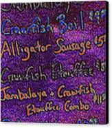 Alligator Sausage For Five Dollars 20130610 Canvas Print by Wingsdomain Art and Photography
