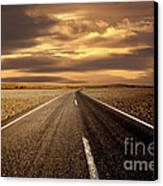 Alone Road Canvas Print by Boon Mee