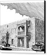 Amador Hotel In Las Cruces N M Canvas Print by Jack Pumphrey