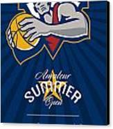 Amateur Summer Basketball League Open Poster Canvas Print by Aloysius Patrimonio