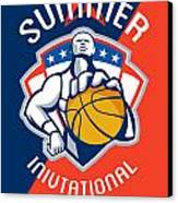Amateur Summer Invitational Basketball Poster Canvas Print by Aloysius Patrimonio