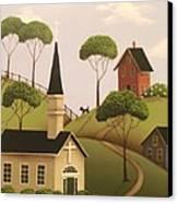 Amber Hills Canvas Print by Catherine Holman