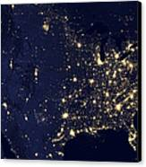America At Night Canvas Print by Adam Romanowicz