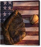 American Baseball Canvas Print