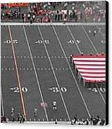 American Flag At Paul Brown Stadium Canvas Print by Dan Sproul
