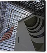 American Flag At The Jfk Library Canvas Print by Juergen Roth