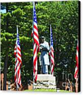 American Flag - Civil War Memorial -  Luther Fine Art Canvas Print by Luther Fine Art