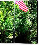 American Flag - Honoring John Canvas Print by Tap On Photo