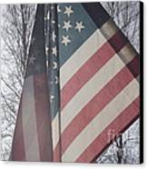American Flag Canvas Print by Jennifer Kimberly
