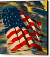 American Flag Canvas Print by Patrick McClellan