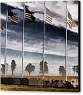 American Flag Still Standing Canvas Print by Luther   Fine Art