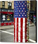 American Flag Tiles Canvas Print by Garry Gay
