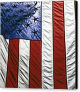 American Flag Canvas Print by Tony Cordoza