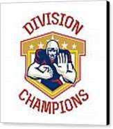 American Football Division Champions Shield Canvas Print by Aloysius Patrimonio