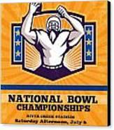 American Football National Bowl Poster Art Canvas Print by Aloysius Patrimonio