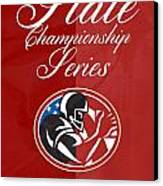 American Football State Championship Series Poster Canvas Print