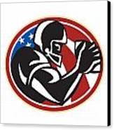 American Football Wide Receiver Ball Canvas Print by Aloysius Patrimonio