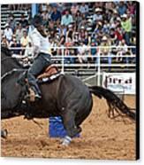 American Rodeo Female Barrel Racer Dark Horse II Canvas Print