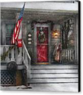 Americana - A Tribute To Rockwell - Westfield Nj Canvas Print by Mike Savad