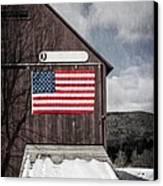 Americana Patriotic Barn Canvas Print by Edward Fielding