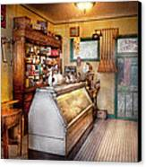 Americana - Store - At The Local Grocers Canvas Print