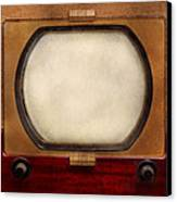 Americana - Tv - The Boob Tube Canvas Print by Mike Savad