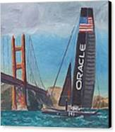 Americas Cup By The Golden Gate Canvas Print
