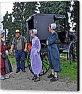 Amish Family Travelers Canvas Print by Brian Graybill