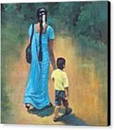Amma's Grip Leads. Canvas Print by Usha Shantharam