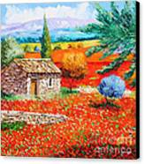 Among The Poppies Canvas Print