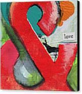Ampersand Love Canvas Print