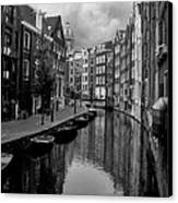 Amsterdam Canal Canvas Print by Heather Applegate