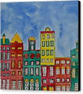 Amsterdam Houses Canvas Print by Shruti Prasad