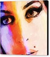 Amy Pop-art Canvas Print by Lutz Baar