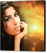 Amy Winehouse Canvas Print by Anthony Caruso